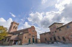 San Miniato Italië - Kathedraal en bischop` s paleis Royalty-vrije Stock Afbeeldingen