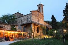 San Miniato kyrka i Sicelle Tuscany, Italien Arkivfoto