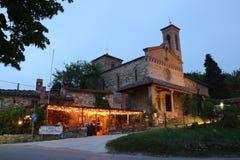 San Miniato kyrka i Sicelle Tuscany, Italien Royaltyfri Foto