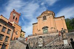San Miniato, Pisa, Toskana, Italien: Kirche des heiligen Kreuzes und lizenzfreie stockbilder