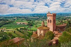 San Miniato, Pisa, Tuscany, Italy: Landscape Of The Countryside Royalty Free Stock Photos