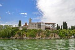 San Naum, Ocrida, Macedonia - vista dal lago fotografia stock libera da diritti