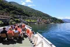 "San Nazzaro, †de Suíça ""24 de junho de 2015: Os passageiros querem o enjo Fotografia de Stock Royalty Free"