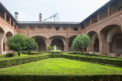 San Nazzaro Sesia (Novara), abadía Foto de archivo