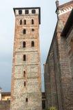 San Nazzaro Sesia (Novara), abadía Imagen de archivo