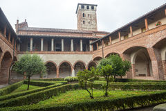 San Nazzaro Sesia (Novara), abadía Fotografía de archivo libre de regalías