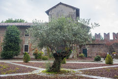San Nazzaro Sesia (Novara), abbazia Immagini Stock Libere da Diritti