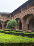 San Nazzaro Sesia (Novara), abbey Stock Photography