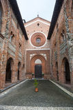 San Nazzaro Sesia (Novara), abdij Stock Afbeelding