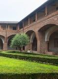 San Nazzaro Sesia (Novara), Abtei Stockfotografie
