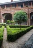 San Nazzaro Sesia (Novara), Abtei Lizenzfreies Stockbild