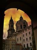 San Nicholas al tramonto Fotografie Stock