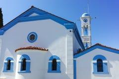 San Nicholas Monastery individuato su due isole a Oporto Lagos vicino alla città di Xanthi, Grecia fotografie stock