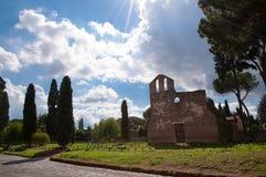 SAN Nicola μια Capo Di Bove εκκλησία μέσω του antica Appia με λαμπρό Στοκ Εικόνα