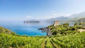 San Nicola Arcella, Calabria, Itália Fotos de Stock Royalty Free