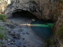 San Nicola Arcella - um relance da praia de Arcomagno imagem de stock