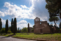 San Nicola a Capo di Bove church at Via Appia antica with shiny Stock Image