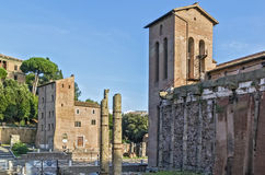 San Nicola in Carcere, Rome Royalty Free Stock Photos
