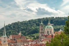 San Nicola Church, Malastrana, Praga, repubblica Ceca Fotografia Stock