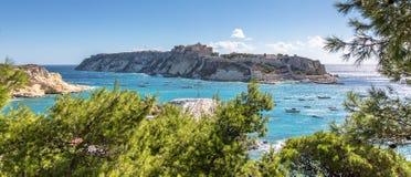 San Nicola Island: Tremiti Islands, Adriatic Sea, Italy. The Isole Tremiti are an archipelago in the Adriatic Sea, north of the Gargano Peninsula. They stock image