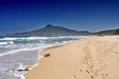 San Nicolao beach at Buggerru, Sardinia, Italy Stock Image
