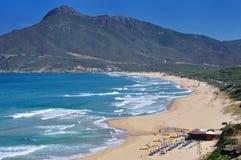 San Nicolao strand på Buggerru, Sardinia, Italien Arkivbilder