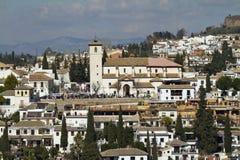 San Nicolas from Alhambra Granada Stock Image