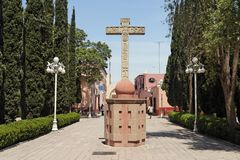 San Nicolas de Tolentino Convent Actopan Mexico Royalty Free Stock Photos