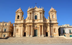 San Nicolo Cathedral in Noto Stock Photo