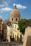 San Nicolo cathedral in Noto viewed from above Stock Photography