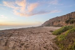 San Onofre sun setting views stock photo