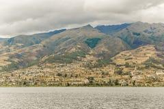 San Pablo湖Imbabura区厄瓜多尔 库存照片