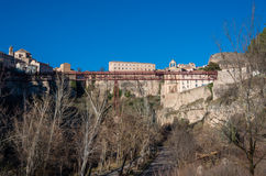 San Pablo bridge and Parador de Cuenca. Saint Paul monastery in Royalty Free Stock Images
