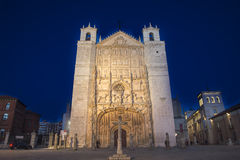 San Pablo Church in the evening, Valladolid Royalty Free Stock Image