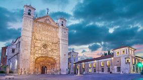 San Pablo Church in the evening, Valladolid stock footage