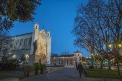 San Pablo Church nella sera, Valladolid immagine stock