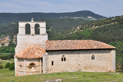 San Pantaleon de Losa hermitage, Burgos  (Spain) Stock Photos