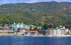 San Panteleimon Monastery, Athos Peninsula, il monte Athos, Chalkidiki, Grecia Immagine Stock Libera da Diritti