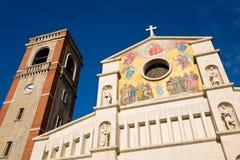 San Paolino church, Viareggio, Italy. The facade of the San Paolino basilica built in 1896 in the town of Viareggio in the Lucca province of Tuscany, Italy royalty free stock photos