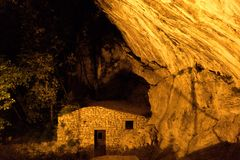 San paolo chappel under a rock Stock Photography