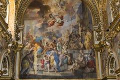 San Paolo Maggiore church, Naples Italy. Interiors and details of San Paolo Maggiore church, Naples, campania, Italy royalty free stock photos