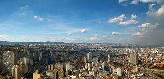 San Paolo skyline, Brasil. Panorama View of San Paolo skyline from the banesco building, Brazil Royalty Free Stock Photo