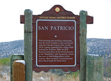 San Patricio New Mexico. Lincoln County Sign Royalty Free Stock Images