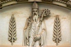 San Patricio y tréboles Imagen de archivo