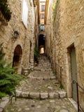 San-Paul-de-Vence - architettura della città immagine stock