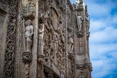Valladolid city. San Paul`s Renaissance church Valladolid, Spain Royalty Free Stock Photography