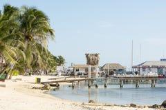 San Pedro Beach On Ambergris Caye foto de archivo libre de regalías