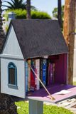 Outdoor Little Free Library inspires reading and community royalty free stock photography
