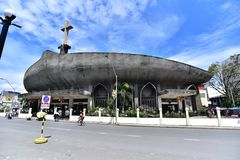 San Pedro Cathedral in Davao, Philippines. The biggest church in Davao City, Philippines is San Pedro Cathedral. Everyday many people visit there and pray for Royalty Free Stock Images