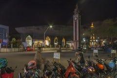 San Pedro Cathedral na noite na cidade de Davao Imagem de Stock Royalty Free